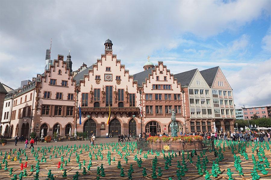 Площадь Рёмерберг в Франкфурт-на-Майне